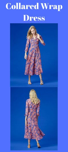 "This breezy midi-length collared wrap dress is cut in lightweight floral printed cotton. The perfect cover up for the beach, you'll rely on it more than you think. Fit runs small, we recommend you take a size up. 72% Cotton 28% Silk 94cm / 37"" from natural waist Style #: 10023SWM Color ID: HARDE"