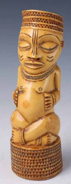 Africa | Carved fertility figure from DR Congo | Elephant Ivory