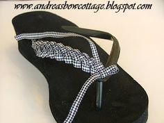 Andrea's Bow Cottage: Flip Flops With Flair!! {Instructions}