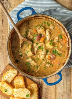 Wine Chicken Stew WHITE WINE CHICKEN STEW has all of the flavor and none of the fuss! Such a delicious comfort food.the perfect soup for a cold Winter night! The flavors in this chicken stew are INCREDIBLE!Delicious Delicious may refer to: Stew Chicken Recipe, Chicken Recipes, Chicken Chili, Stewed Chicken, Mushroom Chicken, Chicken Flavors, Best Chicken Stew, Chicken Soups, Mushroom Sauce