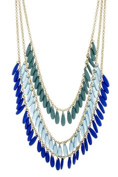 Blue Homica Bead Necklace $22