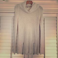 Sweater dress Cream Sweater dress with neon specks and zipper detail. Heart and Crush Sweaters Cowl & Turtlenecks