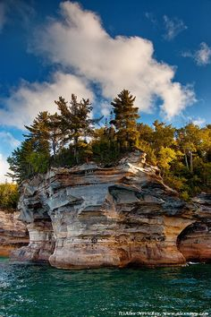 Pictured Rocks, Michigan. Never been but want to visit....beauty