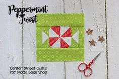 Countdown to Christmas: Peppermint Twist Block