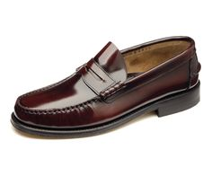 Princeton- £110.00 Polished leather moccasin shoe, handcrafted in India - Moccasin Leather Sole - Last Prince / F Fitting