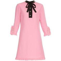 Gucci Swarovski crystal-embellished ruffle dress