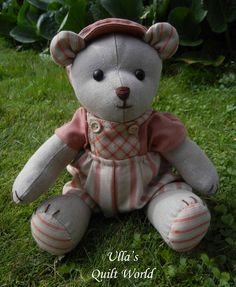 Ulla's Quilt World: Teddy Bear quilt and PATTERN