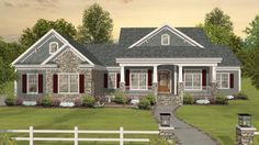 Floor Plan AFLFPW20695 - 1 Story Home Design with 3 BRs and 3 Baths