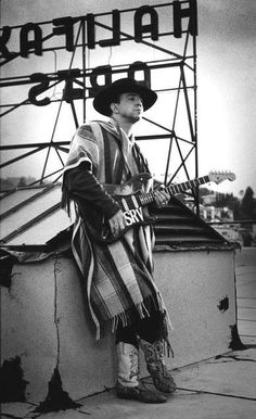 Stevie Ray Vaughan...listened to him while i wrote Blue Moon