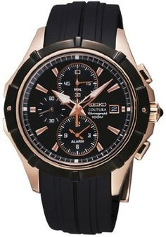 Seiko SNAF14P1 Coutura Alarm Chronograph Mens Quartz Watch ** You can find more details by visiting the image link.