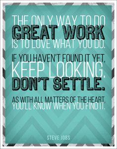#design #graphicdesign #type #typography #quote #quotes #inspiration #words #wordsofwisdom #jobs #stevejobs    (http://trinadlambert.com)