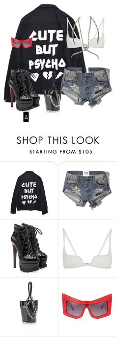 """Untitled #528"" by stylzbyang on Polyvore featuring High Heels Suicide, Abercrombie & Fitch, Alaïa, Vera Wang, Alexander Wang, Kokon To Zai and Versace"