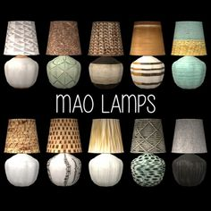 Leo 4 Sims: Mao Table Lamp • Sims 4 Downloads