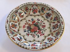 Daher Tin Bowl Floral Decorated Ware Retro Shabby by NostalgicFair