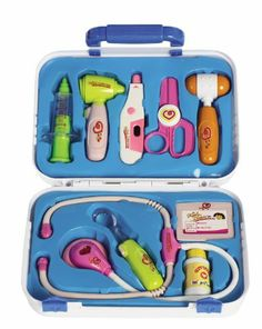 E Support Medical Box Doctor Nurse Kit Playset Pretend Electronic Medical Play Tools Toy Set for Kids >>> You can find more details by visiting the image link. Doctor Play Set, Playing Doctor, Children's Medical, Medical Doctor, Medical School, Baby Tech, Child Life Specialist, Baby Shower Balloons, Fun Activities