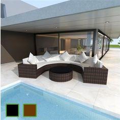 Poly Rattan Gartenmöbel Set Sitzgruppe Garnitur Lounge Essgruppe Sessel Couch