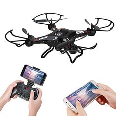 Holy Stone F183W Wifi FPV Drone with 720P Wide-Angle HD Camera Live Video RC Quadcopter with Altitude Hold, Gravity Sensor Function, RTF and Easy to Fly, Compatible with VR Headset >>> You can find more details by visiting the image link.