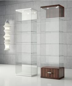 Find cheap affordable glass shelves styled for your home Room Shelves, Glass Shelves, Display Shelves, Shelving, Cabinet Furniture, Home Decor Furniture, Crockery Cabinet, Glass Display Case, Display Cases