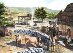 Michel Grenet - Typical Neolithic village in what is now Provence, France