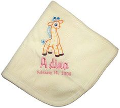 For a retro mod nursery is there anything better than this throw-back giraffe? Custom personalized for a boy or a girl it's a reminder of the time when we never got to know in advance and nurseries were often buttercup yellow. Now it's just because it's fun!