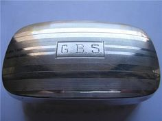 "Vintage Sterling Silver Baby Brush Egraved G.B.S. Measurements are 1 3/8"" X 2 3/4. Perfect condition."