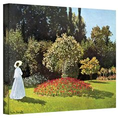 Art Wall ''Woman in Park with Poppies'' by Claude Monet Canvas Painting Print & Reviews   Wayfair