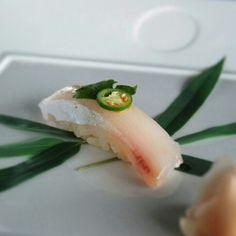 Hamachi jalapeno sushi, Nobu style!