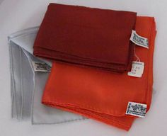 FREE SHIP Your Choice NOS Sally Gee Long Scarf, Burgundy Orange Gray, Hand Rolled, Made in Japan Fashion Accessory, New from Old Stock by DaintyDishyAndDivine on Etsy