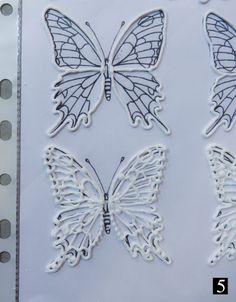 Filigree Butterflies Tutorial