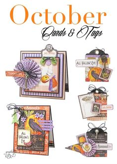 Make these October Time to Flourish cards and tags with this free printable project sheet! #graphic45