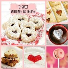 12 Sweet Valentine's Day Recipes...yum! #diy #Valentines