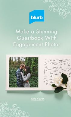 Show off your engagement photos by creating a unique album where people can leave their mark. Create your own unique layouts that leave room for well-wishes and make your book on pen-ready matte paper.