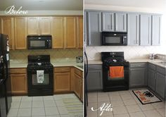 Kitchen Cabinets Side by Side www.gustoandgraceblog.com