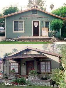 Porch Before And After Remodel Exterior Renovation Front