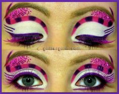 Google Image Result for http://glittergirlc.files.wordpress.com/2012/08/cheshire-cat-inspired-makeup-look-2.jpg%3Fw%3D584%26h%3D464