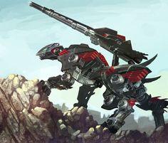 Lightning Saix by ai-eye on DeviantArt Zoids Genesis, Character Art, Character Design, Robot Animal, Robot Monster, Mecha Suit, Battle Droid, Mecha Anime, Futuristic Art