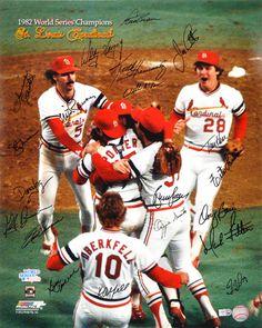 St Louis Cardinals 1982 World Series Champions Players Baseball