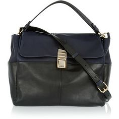 Lanvin For Me two-tone leather shoulder bag