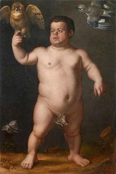 Portrait of Nano Morgante - Agnolo Bronzino