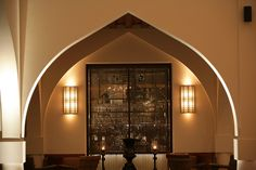 Soft glowing lighting is transfixing   Chedi Muscat detail, Oman