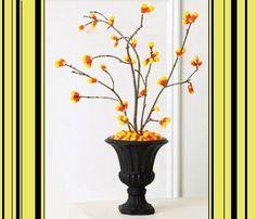 Fiori di caramelle gommose gialle