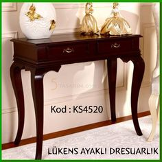 lükens ayaklı dresarlık KS4520 Dining Room Table, Entryway Tables, Brass Console Table, Carpenter Work, Corner Shelves, Center Table, Home And Deco, Side Tables, Wood Crafts