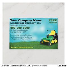 Lawn Care Business Cards, Cleaning Business Cards, Business Card Size, Lawn Service, Text Layout, Landscaping Company, Company Names, How To Do Yoga, Card Sizes
