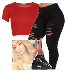 """""""Basketball game -Ariana"""" by saucinonyou999 ❤ liked on Polyvore featuring WearAll and NIKE"""