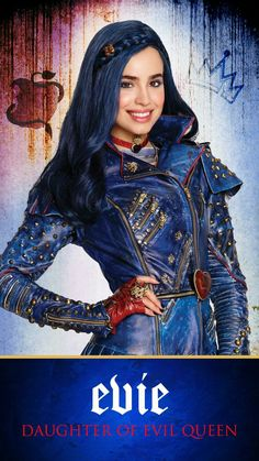 Evie daughter of the Evil Queen 🍎 Descendants Characters, Evie Descendants, Disney Channel Descendants, Sofia Carson, Great Films, Good Movies, Mal And Evie, Evil Queens, Ariana Grande Pictures