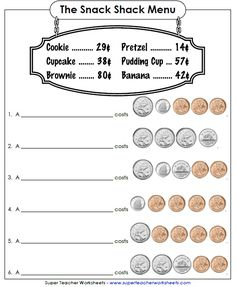 now has Canadian money worksheets! (UK and Australian money coming soon. now has Canadian money worksheets! (UK and Australian money coming soon. Counting Money Worksheets, Money Activities, Kindergarten Math Worksheets, Teacher Worksheets, Math Resources, Printable Worksheets, Maths, Counting Money Games, Kindergarten Counting
