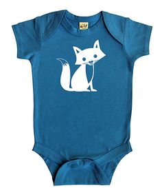 Love this Turquoise Fox Bodysuit - Infant on #zulily! #zulilyfinds
