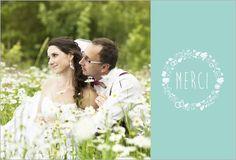 Carte remerciement mariage, remerciement mariage photo avec popcarte.com