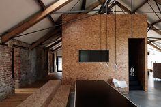 Interieur van een schuurhuis