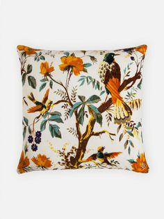 Almofada Pássaro Branco 45x45 | collector55 - loja de decoracao online - Collector55